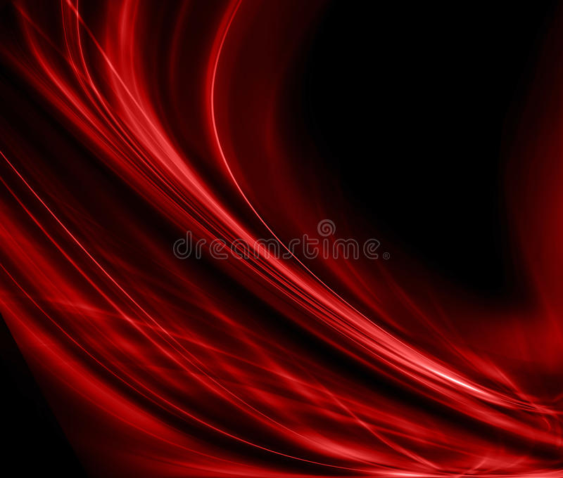 Abstract red background cloth or liquid wave illustration of wavy folds of silk texture satin or velvet material or red vector illustration