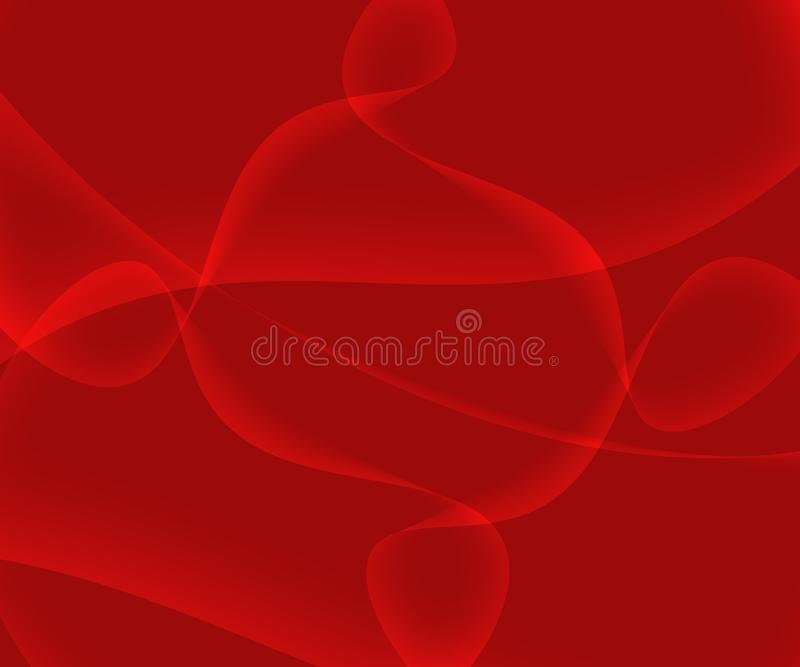Abstract Red Background with Shining Gradient. And Waves for website, poster, banners, computer and mobile wallpapers, presentations vector illustration