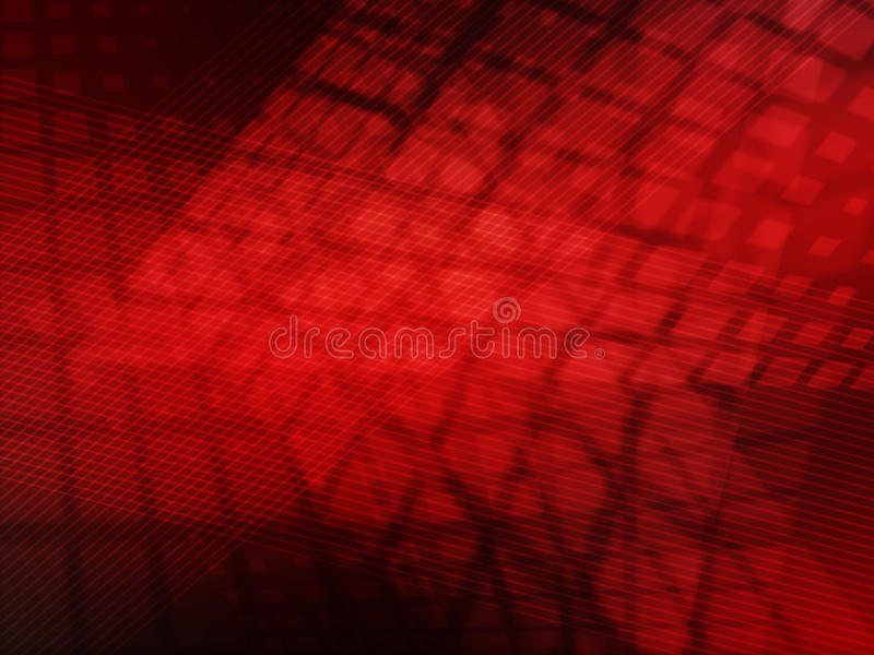 Abstract red Background. Abstract the red space grid background stock photo