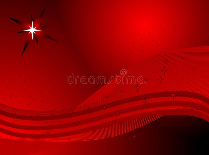 Abstract red background with stars stock photography