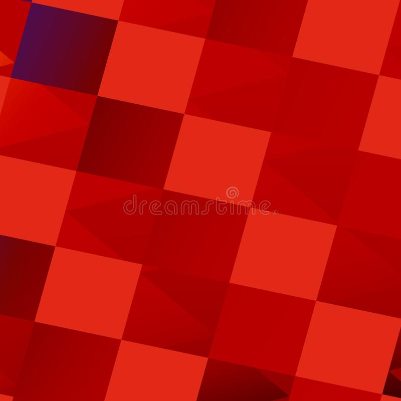 Abstract Red Bathroom Tiles - Tile Art Background vector illustration