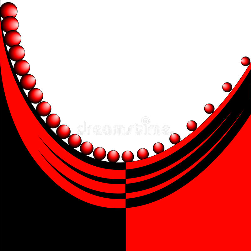Abstract red and black background vector illustration