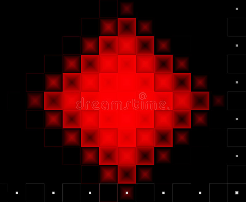 Abstract red and black background stock images
