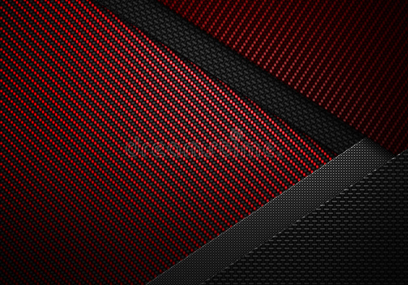 Download Abstract Red Black Carbon Fiber Textured Material Design Stock Illustration