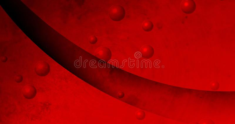 Abstract red with black color mixture effects with bubbles textured background. Many uses for advertising, book page, paintings, printing, mobile wallpaper royalty free illustration