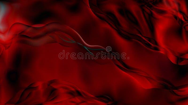 Abstract Red and Black Smoke Background Beautiful elegant Illustration graphic art design Background. Image royalty free illustration