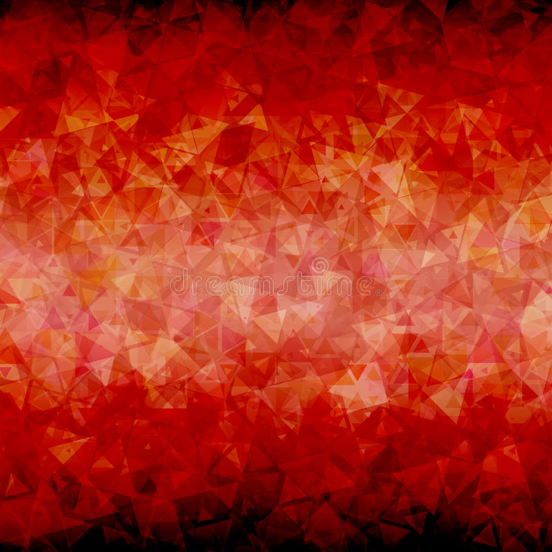 Abstract Red black triangle background vector illustration