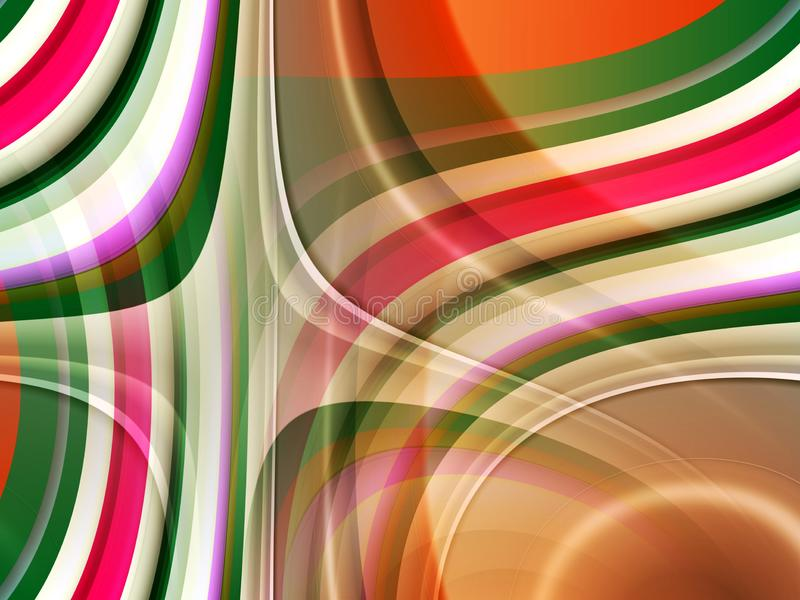 Abstract blue green pink brown lines background, abstract colorful geometries vector illustration