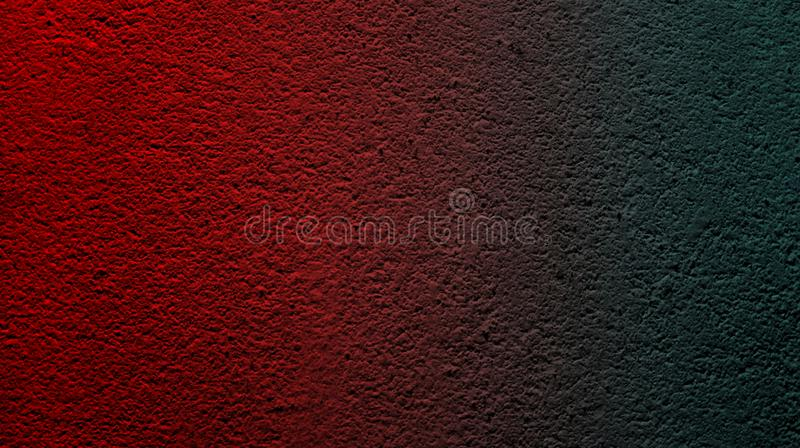 Abstract red dark green color with wall rough dry texture background. royalty free stock photography