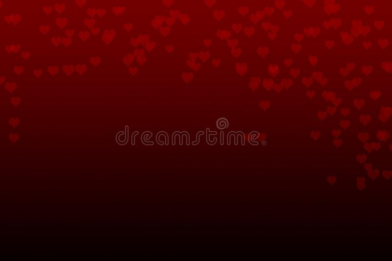 Abstract red falling heart background stock image