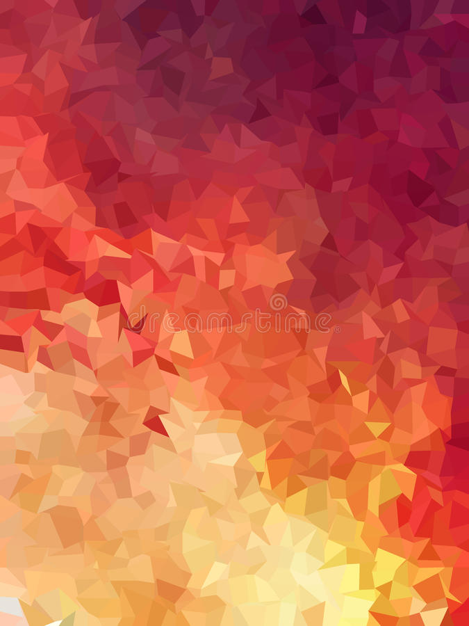 Abstract red of fire color triangles background stock illustration