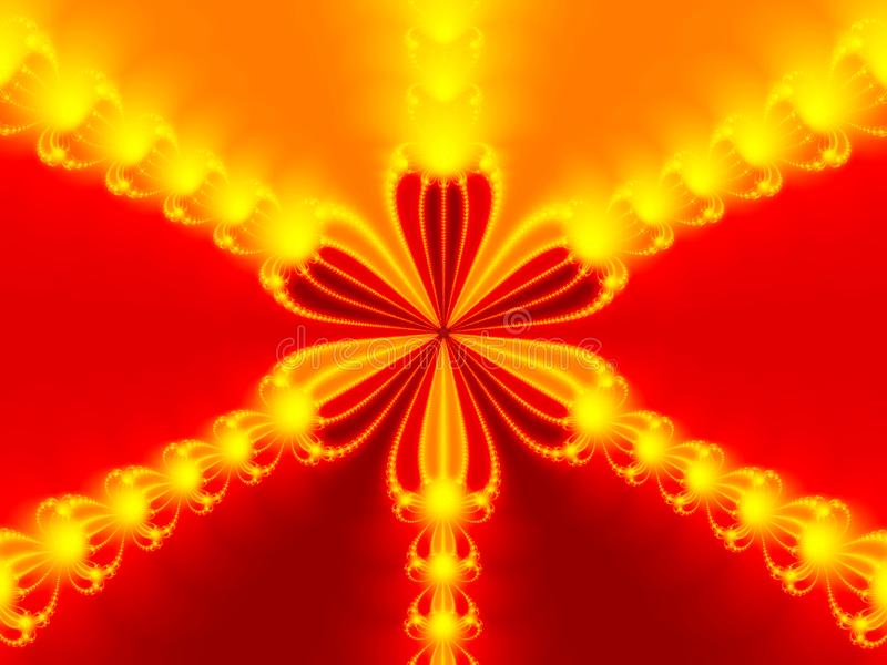 Abstract red flower stock image