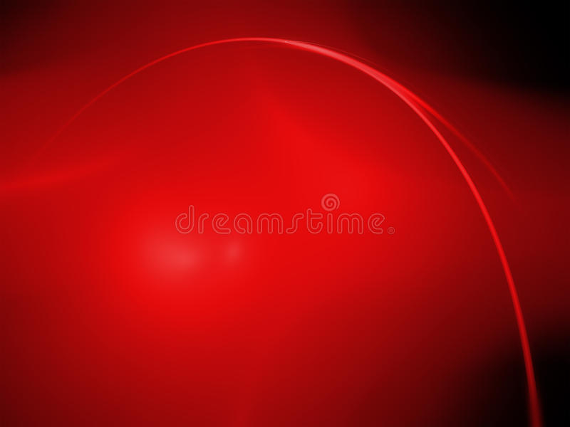 Abstract red fractal image. On black background vector illustration