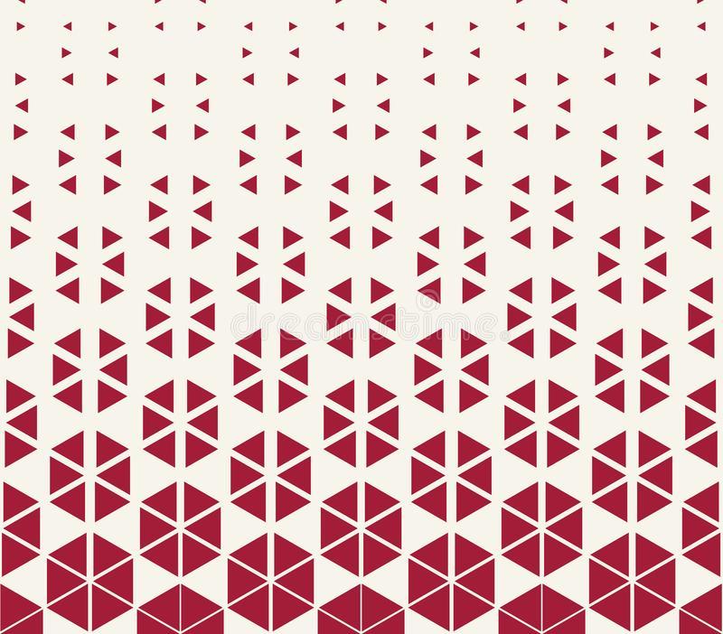 Abstract red geometric hexagon halftone gradient pattern. Background vector illustration