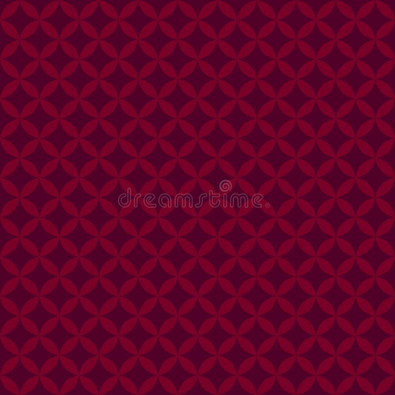 Abstract red Geometric seamless pattern for scatter. Vector stock illustration