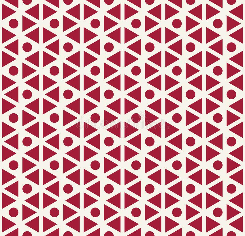 Abstract red geometric triangle deco art pattern. Background vector illustration