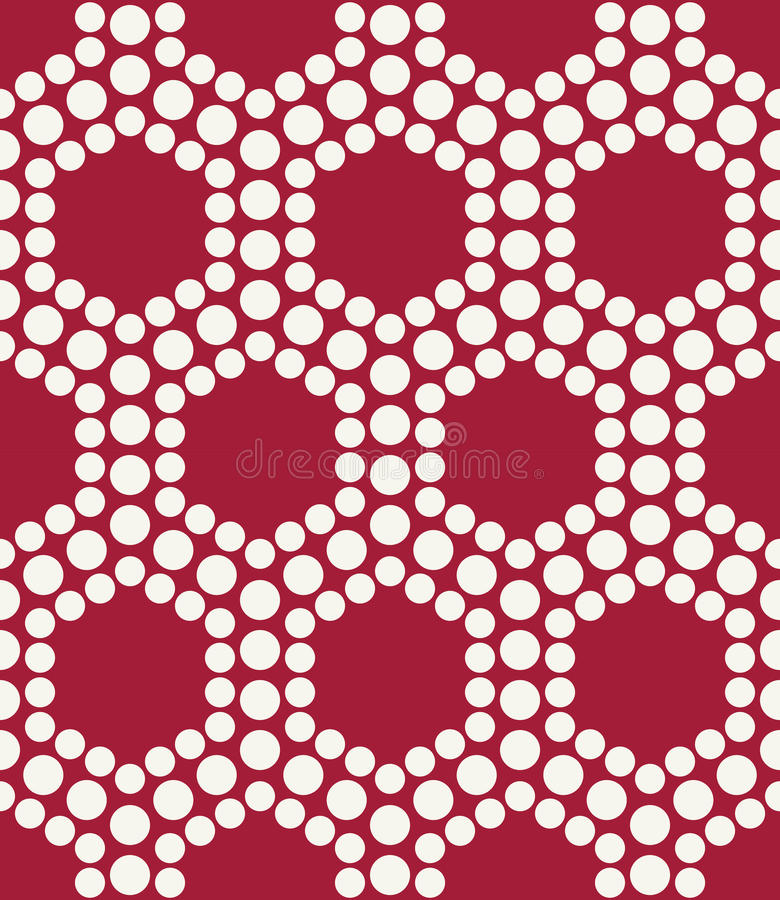 Abstract red geometric triangle design hexagon dots pattern royalty free illustration
