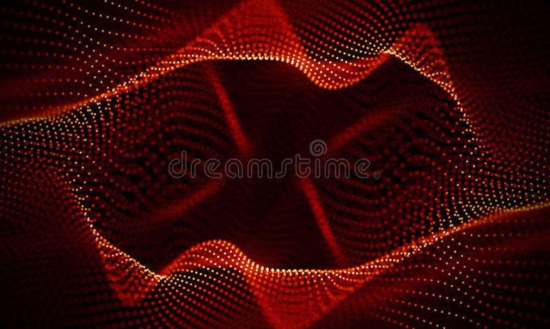 Abstract Red Geometrical Background . Connection structure. Science background. Futuristic Technology HUD Element stock photo