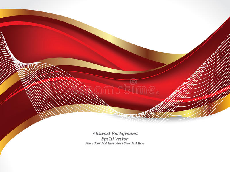 abstract red gold color wave background stock vector illustration of graphic traditional 82821437 abstract red gold color wave