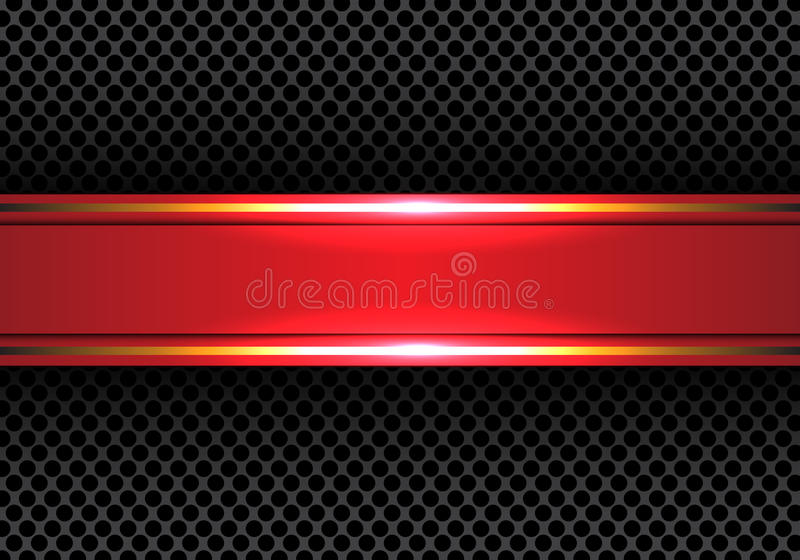 Abstract red gold line banner on circle mesh design modern luxury background texture vector. Abstract red gold line banner on circle mesh design modern luxury royalty free illustration