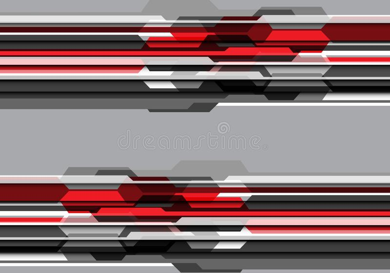 Abstract red grey tone polygon futuristic design modern technology background vector vector illustration