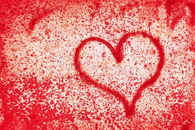Abstract red heart background. The Concept Of Valentine`s Day stock illustration