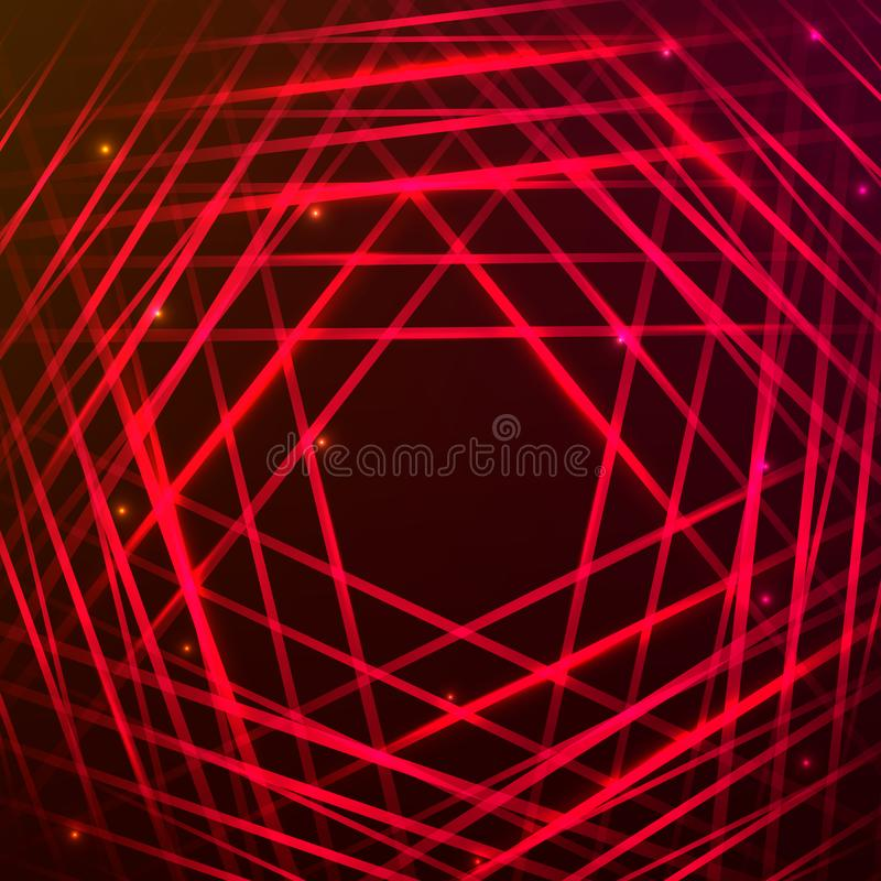 Abstract red laser lights. stock photo