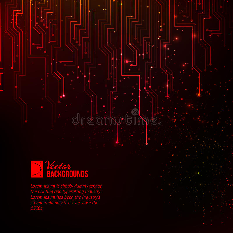 Abstract red lights. stock illustration