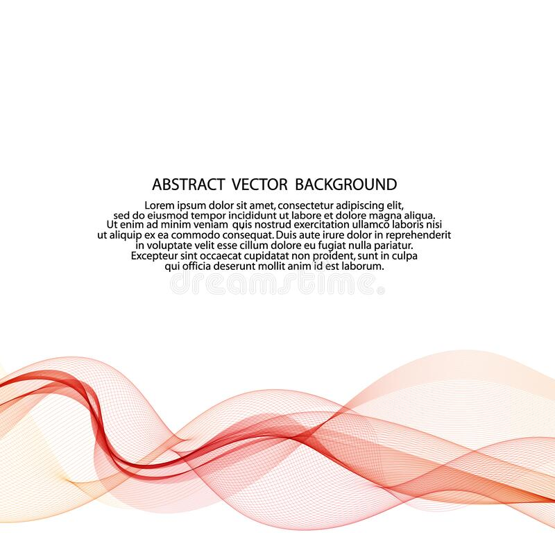 Abstract red lines. Vector background. Red smoky wave. eps 10. Abstract red lines. Vector background. Red smoky wave royalty free stock photos
