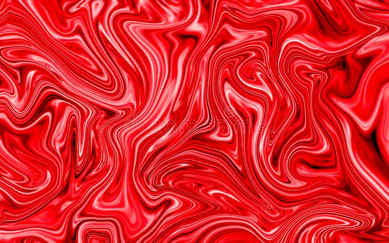 Abstract Red Liquid Marble Swirl texture Background stock images
