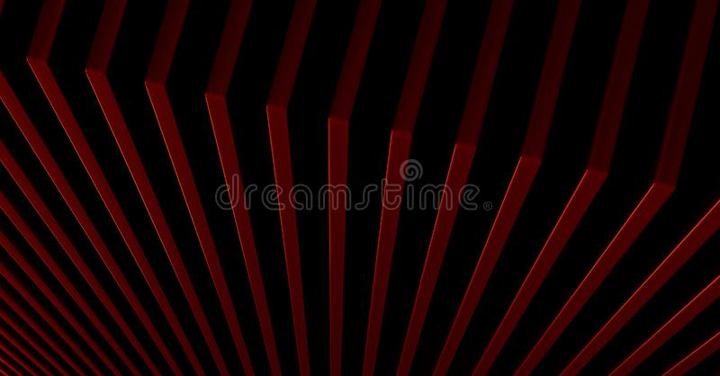The abstract red metal pattern background. 3D illustration.  royalty free illustration
