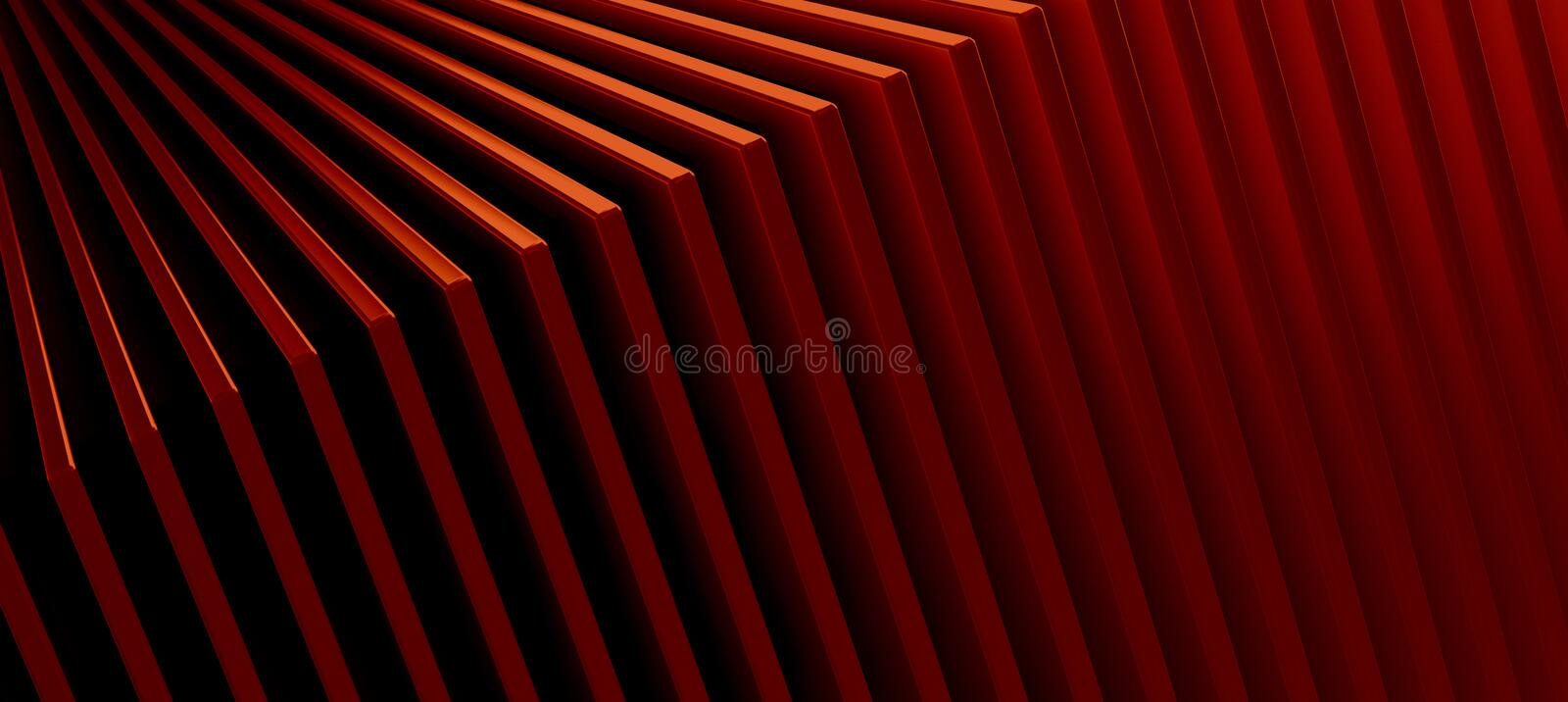 The abstract red metal pattern background. 3D illustration.  vector illustration