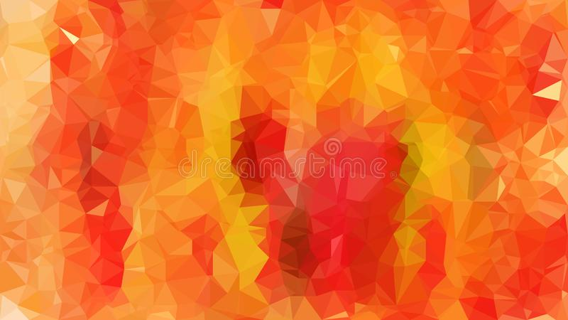 Abstract Red and Orange Polygon Background Design stock image
