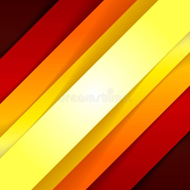 Abstract red and orange triangle shapes background stock illustration