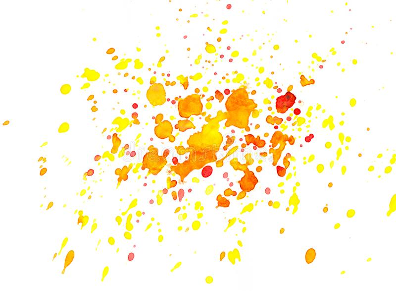 Abstract red, orange and yellow watercolor background royalty free stock image