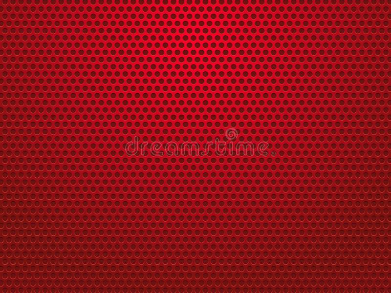Abstract red perforated metal background. Modern style vector illustration