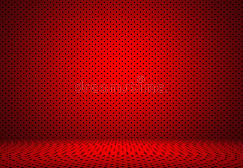 Abstract Red Polka dots background Christmas Valentines layout d royalty free illustration