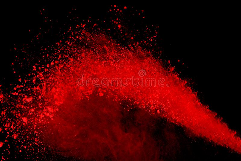Freeze motion of colored powder explosion isolated on black background. Abstract of Multicolor dust splatted. vector illustration
