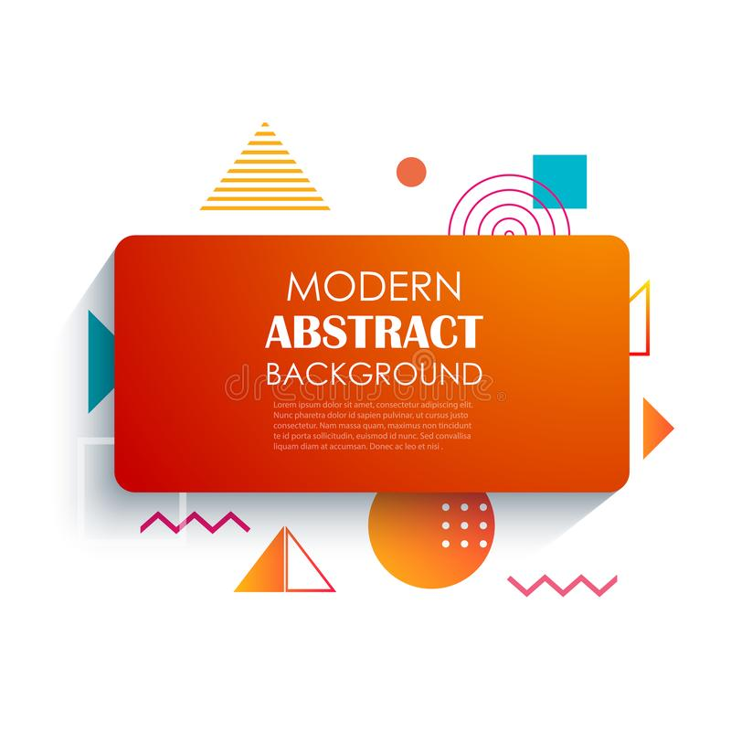 Abstract red rectangle geometric pattern design and background. Use for modern design, cover, template, decorated, brochure, flyer royalty free illustration