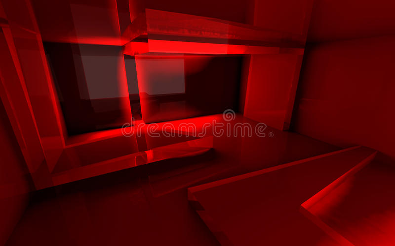 Abstract Red Room royalty free stock photo