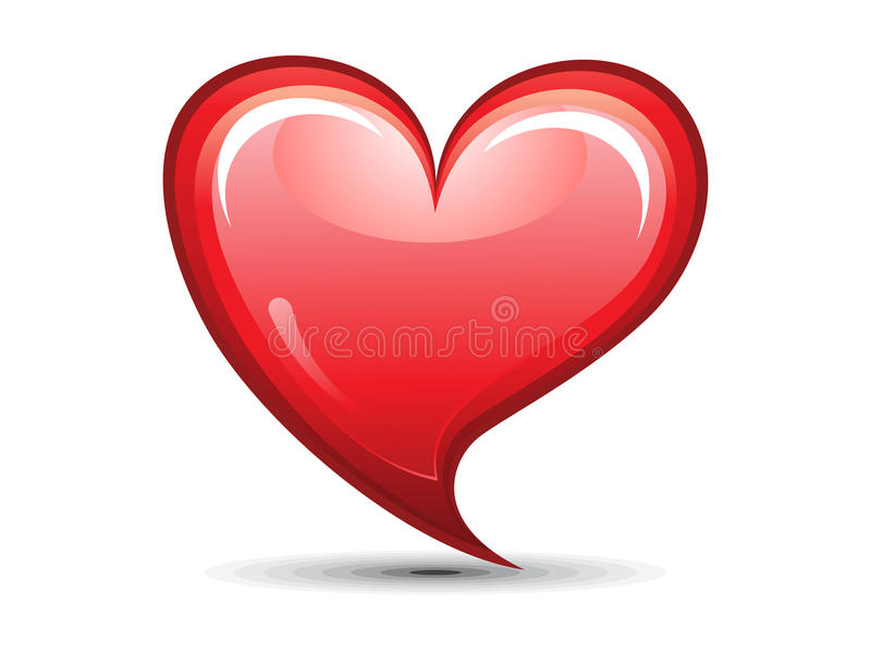Download Abstract Red Shiny Heart Icon Stock Vector - Illustration of health, circle: 23637855