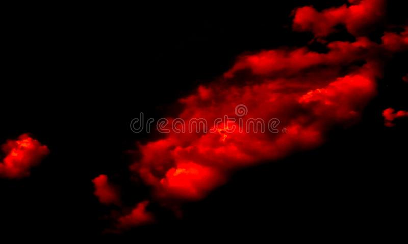 Abstract Red Smoke In Dark. royalty free illustration
