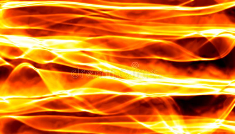 Abstract red smoke Fire over black background. Wavy elegant backdrop for your design and art.  royalty free stock photography
