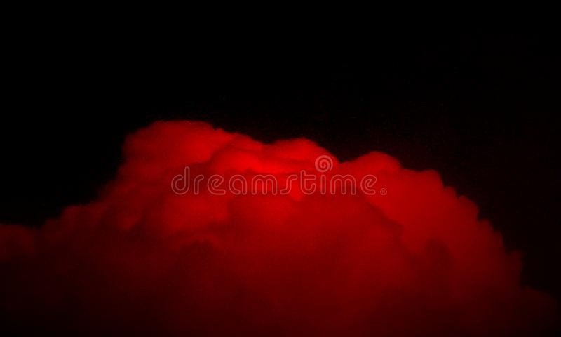 Abstract red smoke mist fog on a black background. vector illustration