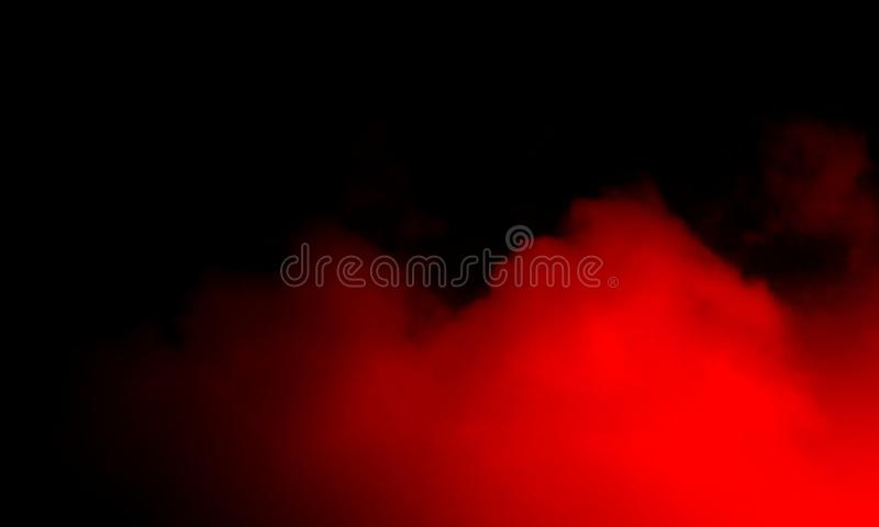 Abstract red smoke mist fog on a black background. Smoke fog misty texture on isolated black background stock photography