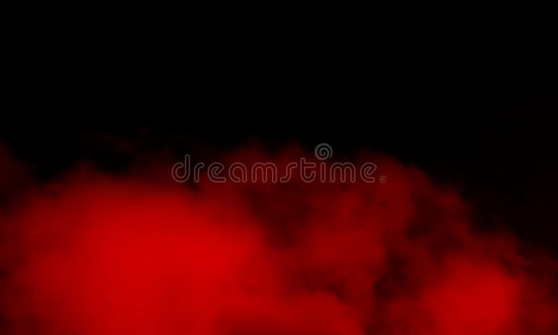 Abstract red smoke mist fog on a black background. Smoke fog misty texture on isolated black background stock images