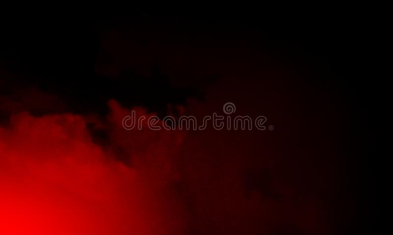 Abstract red smoke mist fog on a black background. royalty free illustration