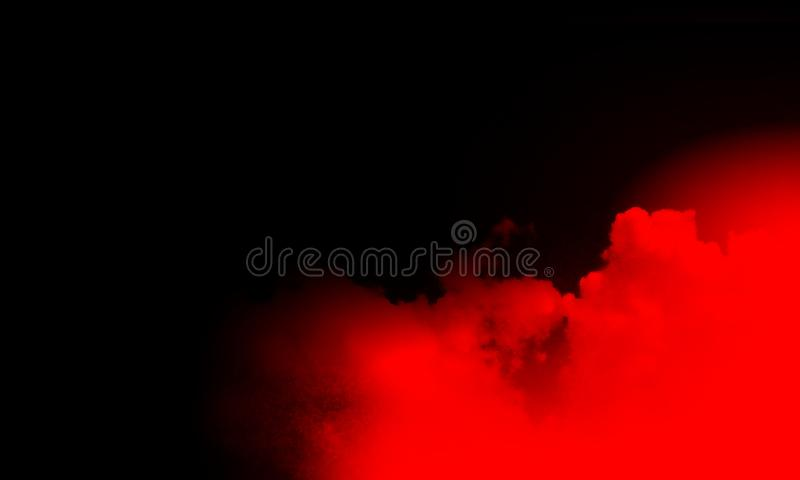 Abstract red smoke mist fog on a black background. Stream, isolated. royalty free stock photography