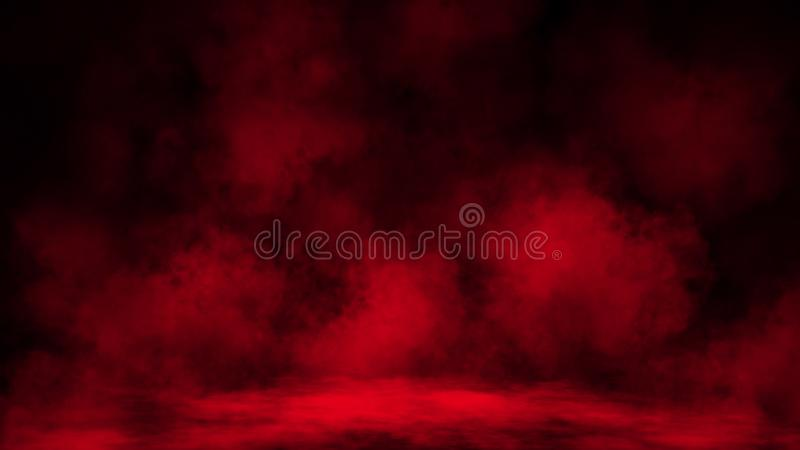 Abstract red smoke mist fog on a black background. Texture royalty free stock photos
