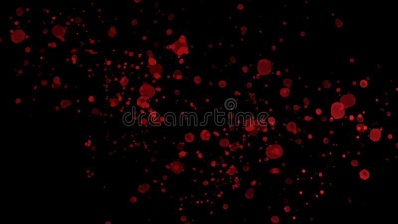 Abstract red splashes on black background vector illustration